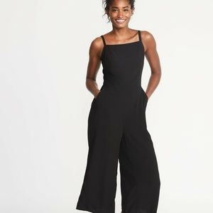 Old Navy Black Square-Neck Cami Jumpsuit Small